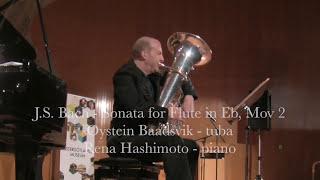 Bach flute sonata, Movement 2 tuba solo