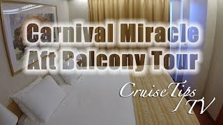 Carnival Miracle Aft Extended Balcony Tour - Cruise Tips Tv