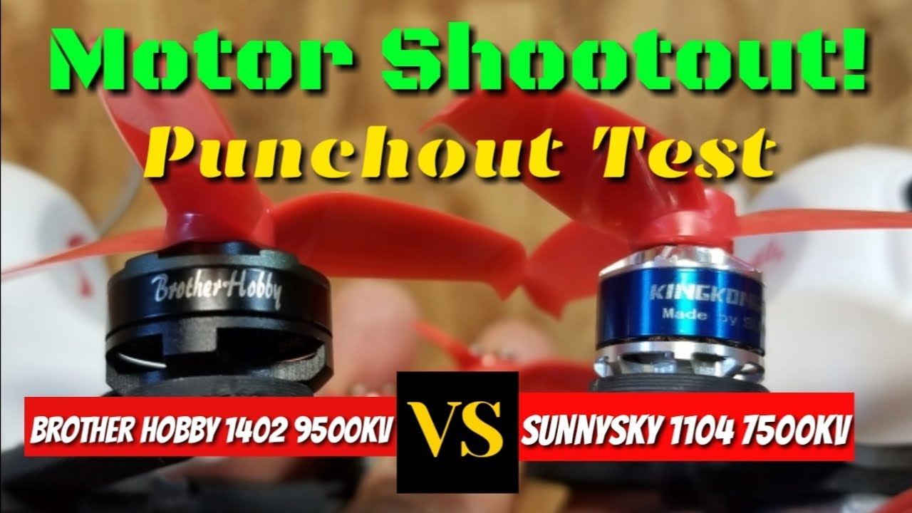 1402 9500Kv -vs- 1104 7500Kv Motor Shootout Punch Test 😜