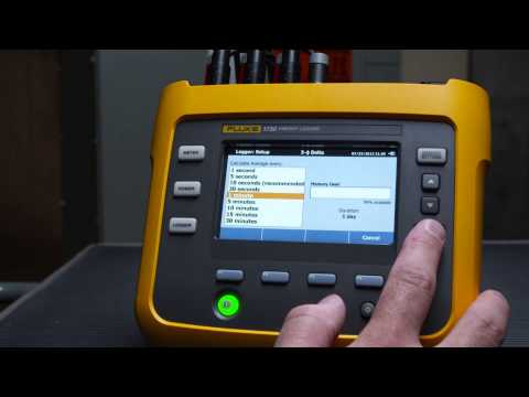 Energy Logging With The Fluke 1730 Energy Logger