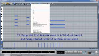 Samplitude & Sequoia Midi-08: Matrix Editor Cell Edit Mode