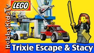 Trixie Escape Meet Stacy LEGO City Police Police Station 60047 HobbyKidsTV