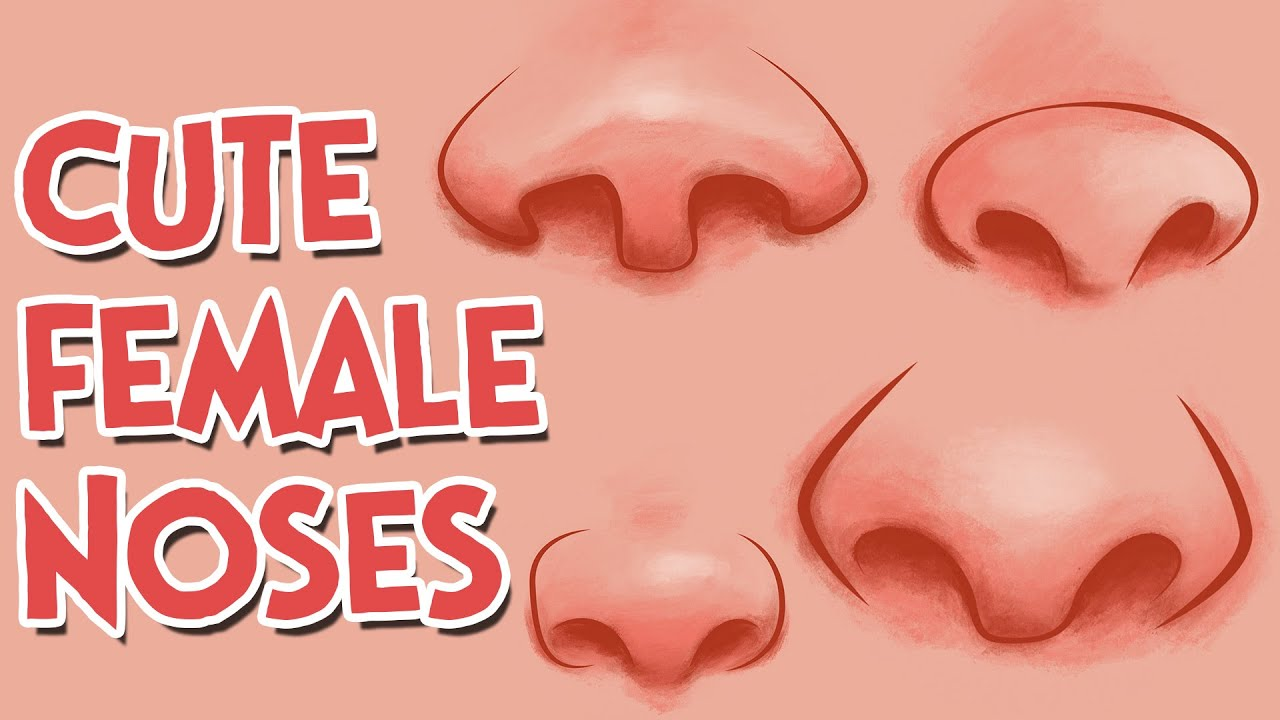 How to Draw Cute Girl Cartoon Noses - YouTube
