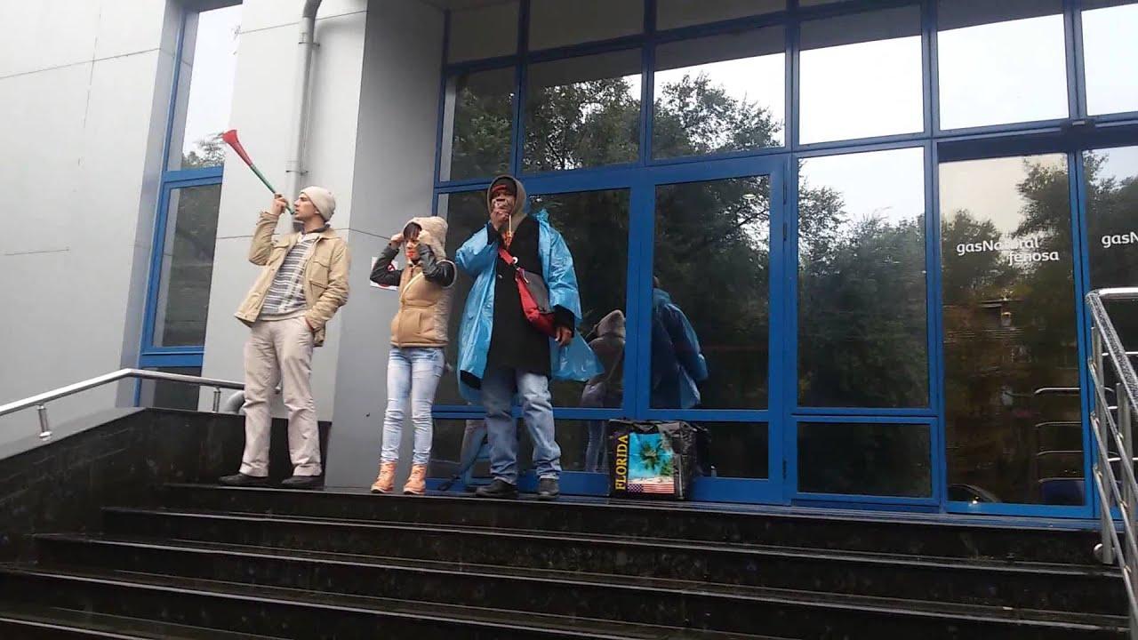 Protest ploios și zgomotos la Fenosa. Am cerut lumină pentru familia Panaghiu din Durlești