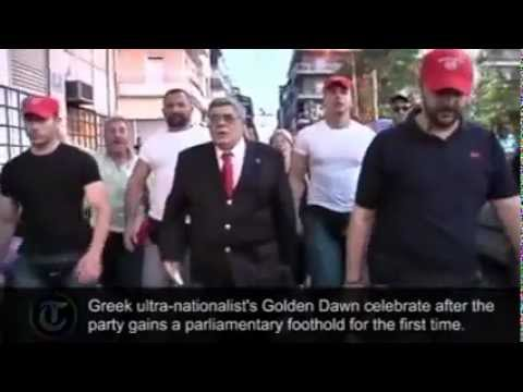 Greek Nazis celebrate their first election victory on streets together with führer (2012)