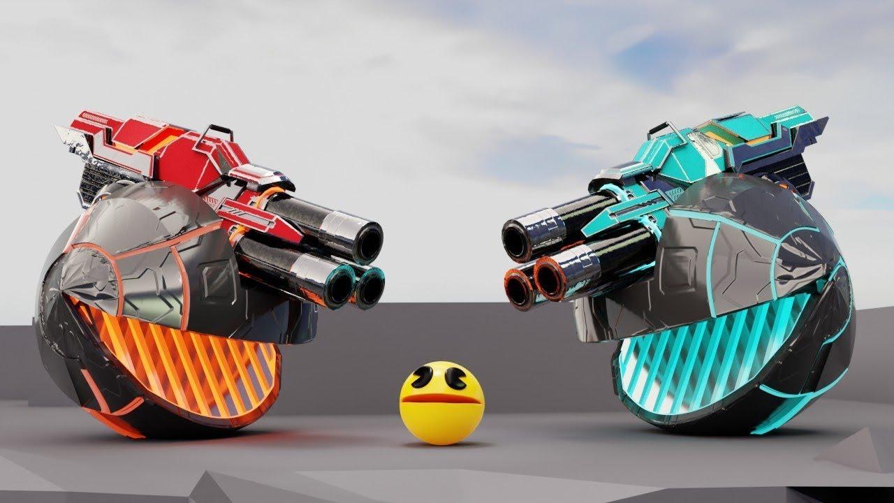 Pacman Vs Robot Monsters (Level 22 : Robo Planet)