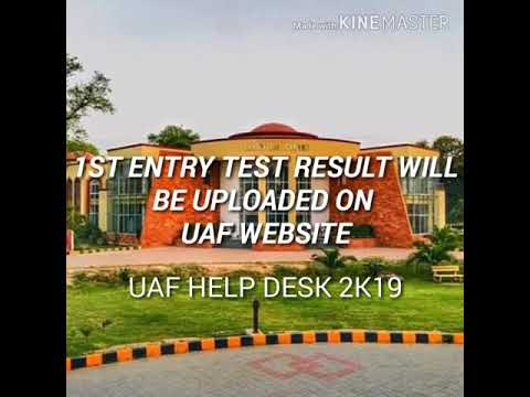 HOW TO CHECK UAF 1ST ENTRY TEST RESULT