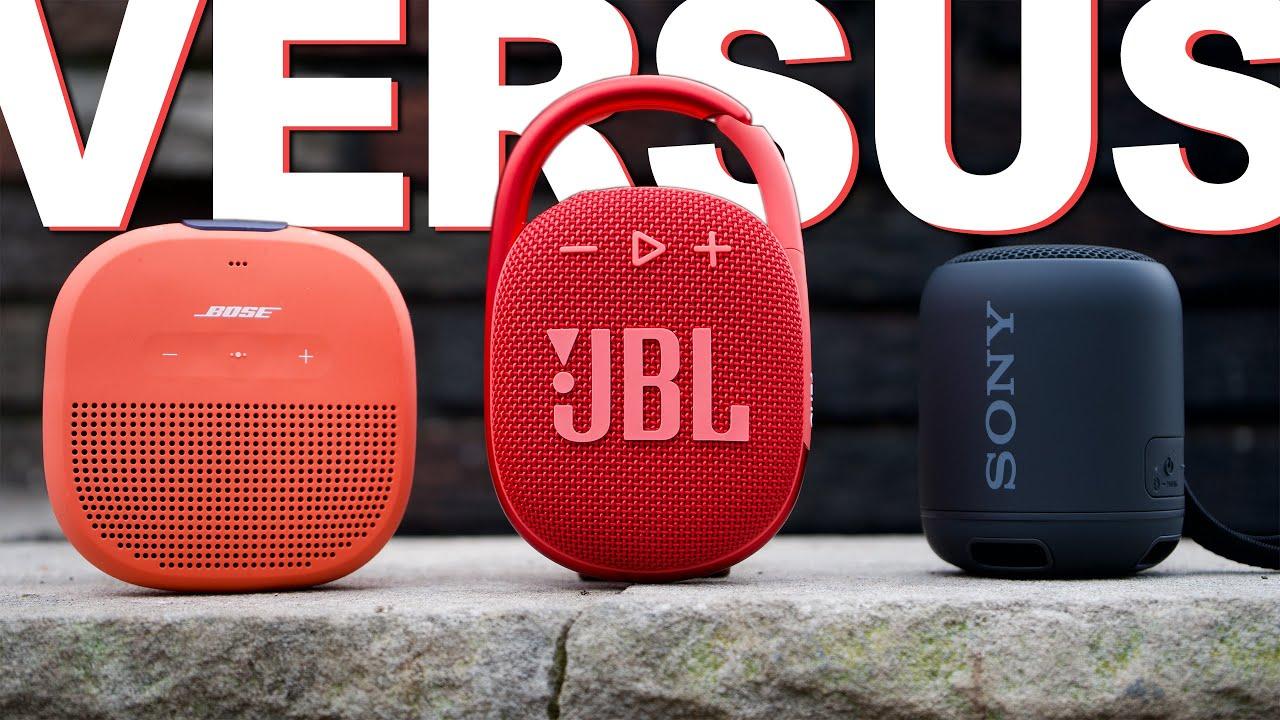 Download JBL Clip 4 Vs Bose Soundlink Micro Vs Sony XB12