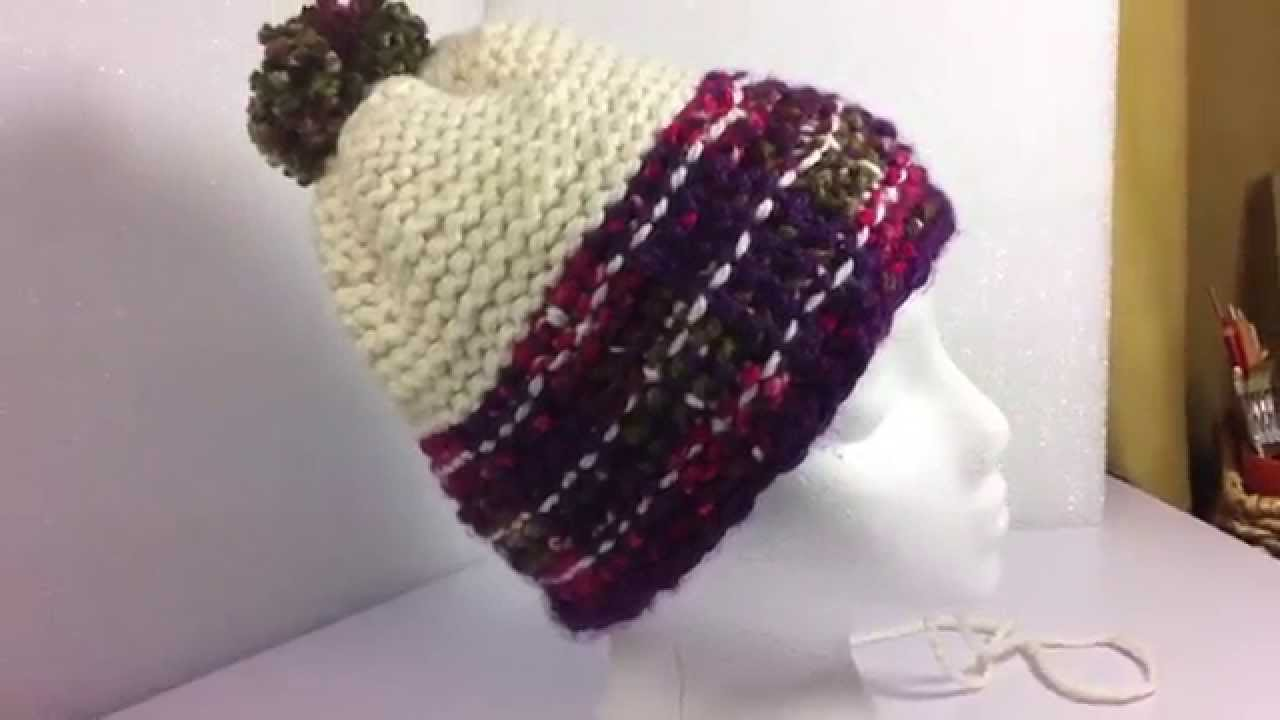 Knitting Adding Stitches : Adding Vertical Stitches: Loom Knitting Malinda Hat - YouTube
