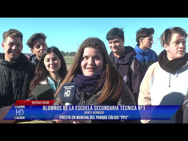 Alumnos de la EST Nº 1 Monte Hermoso  Prof  Virginia Heumán