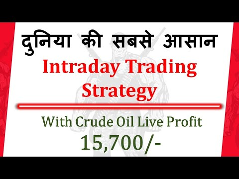 Best & Simple intraday Trading Strategy | Pivot Points Secrets | Crude Oil Live Trading |