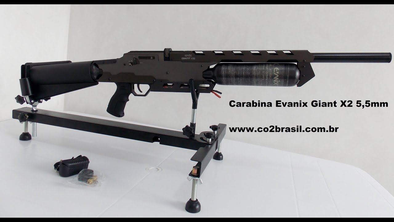 Carabina de pressão PCP Evanix Giant X2 5,5mm full auto