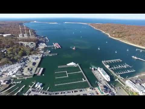 Port Jefferson, Long Island NY, Drone Footage (Full Flight)