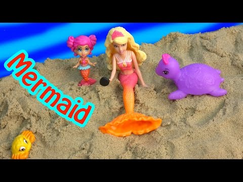Barbie Mini Doll Trapped Mermaid Part 5 The Pearl Princess Video Series Water Phone  CookieSwirlc