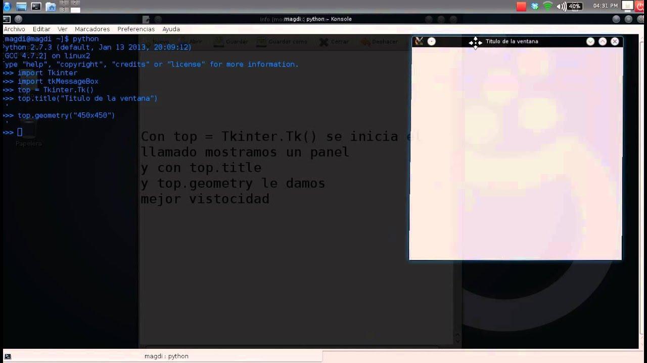 Interfaz gráfica en Python con Tkinter - YouTube