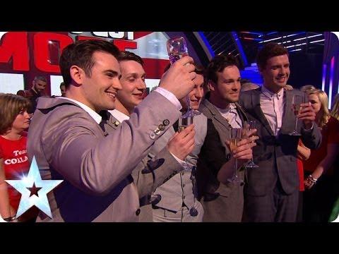 Britain's Got Talent winners Collabro's reaction | Britain's Got More Talent 2014 Final