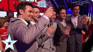 Britain's Got Talent winners Collabro's reaction | Britain's Got More Talent 2014 Final