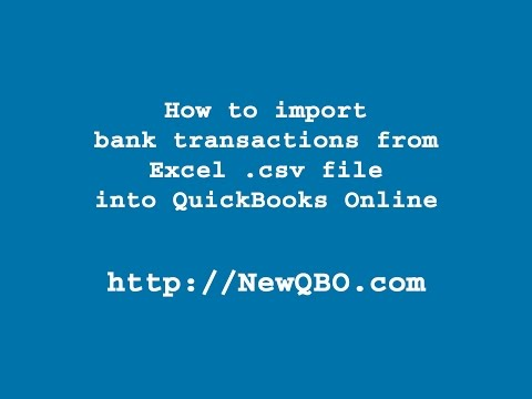 QuickBooks Online: How to import bank transactions from