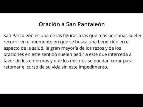 Oraci�n a SAN PANTALEON100% EFECTIVA