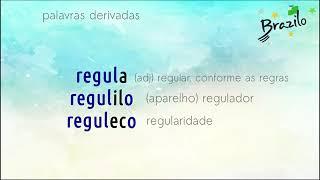 REGULO substantivo em Esperanto