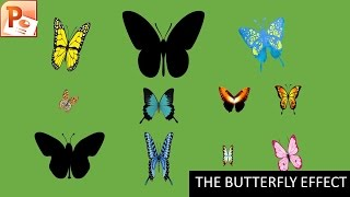 The Butterfly Effect Animation | Motion Graphics in PowerPoint 2016 Tutorial