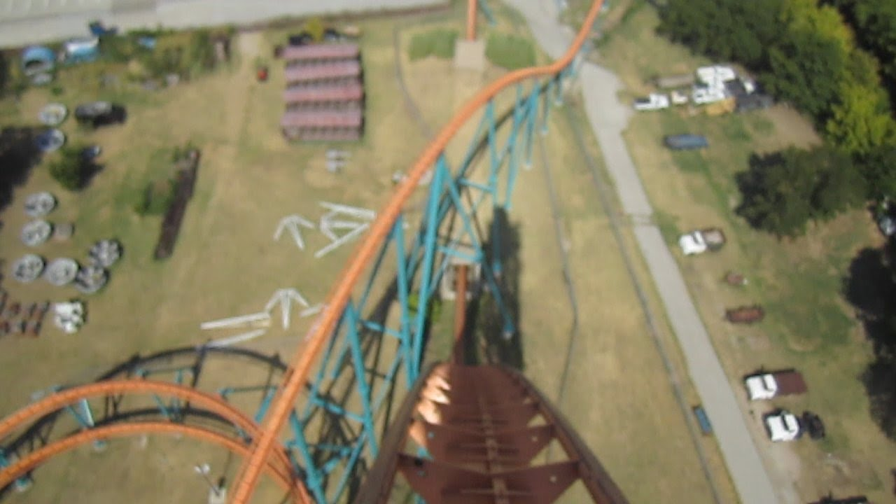 Titan Front Seat on-ride HD POV Six Flags Over Texas