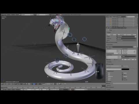 3D Model Cobra Snake How It Works Tutorial Blender