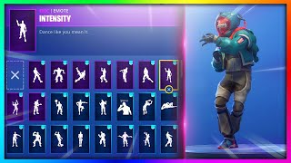"ALL Emotes/Dances with *NEW* ""GROWLER"" Skin in Fortnite: Battle Royale!"