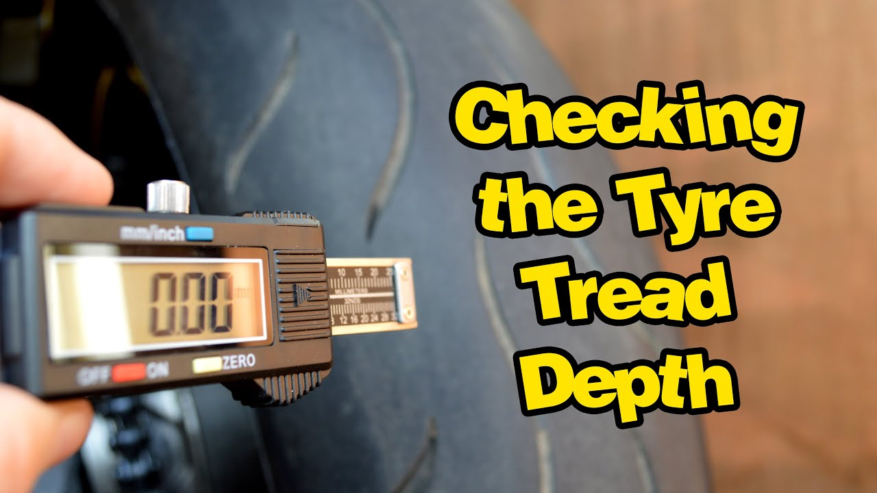 Checking the Tyre Tread Depth on my Motorcycle