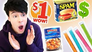 i only ate DOLLAR STORE FOODS for 24 hours!!!