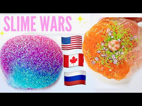 $200 Slime War! USA VS RUSSIA VS CANADA SLIME PACKAGES REVIEW