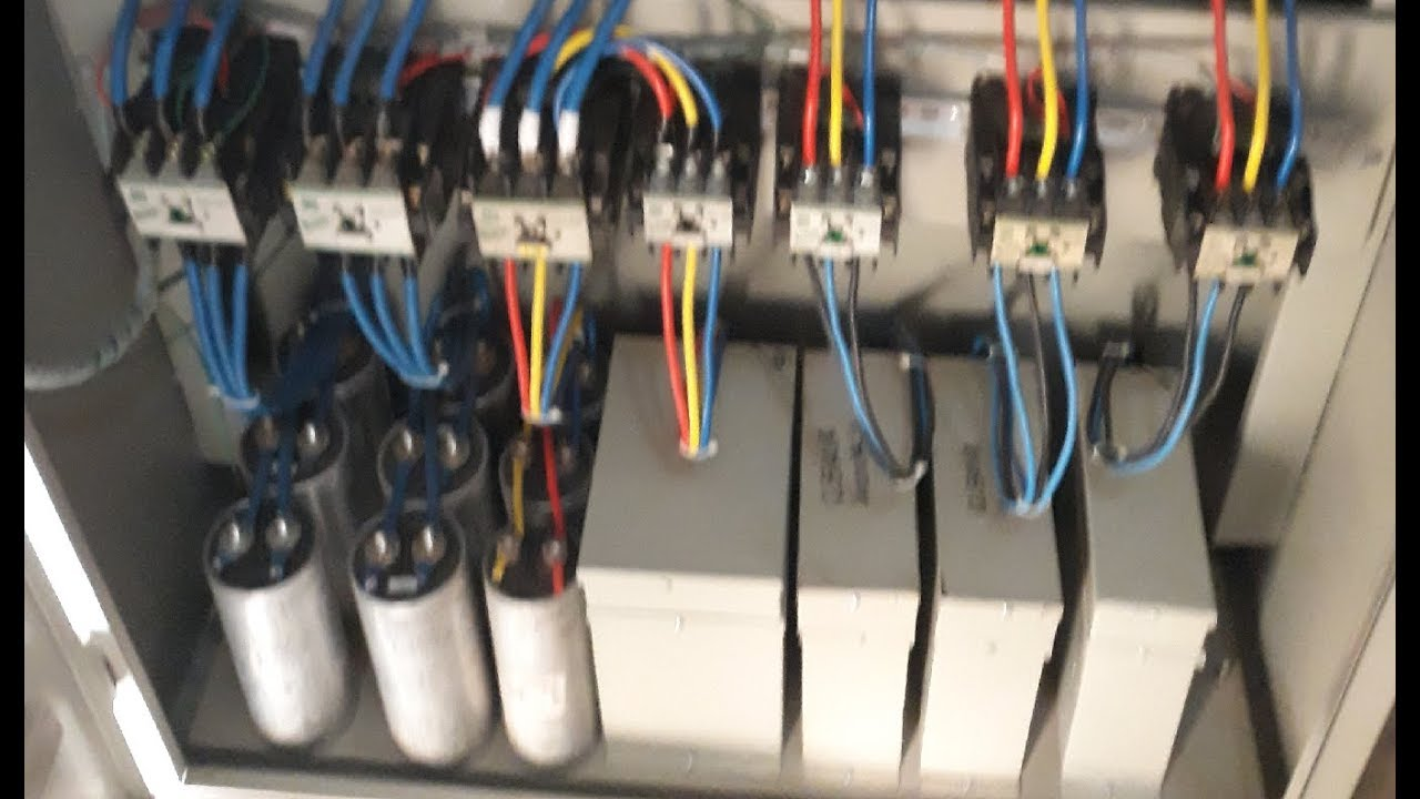 small resolution of power factor capacitor bank apfc panel board hindi urdu youtube power capacitor wiring