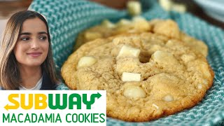 Subway Cookies at home in just 5 minutes / White Choc Macadamia Nut Cookies