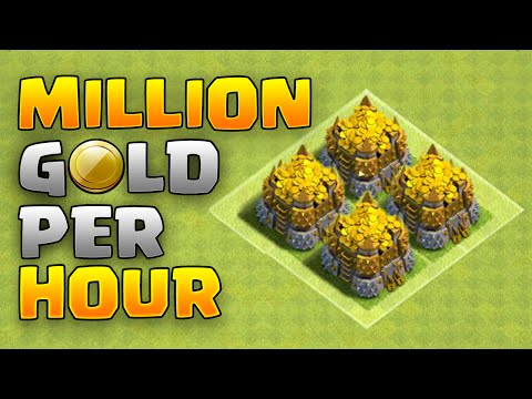 Clash of Clans - HOW TO FARM A MILLION GOLD IN A HOUR - EPIC LOOT RAIDS!