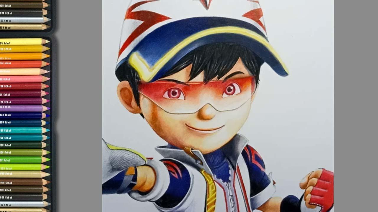 Boboiboy Supra Speed Drawing Youtube