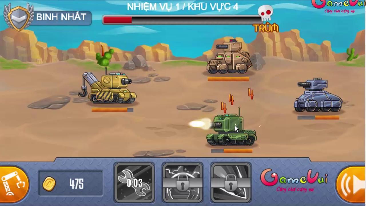 Bấm chuột mỏi tay mới win được game Biệt đội xe tăng của GameVui!!!