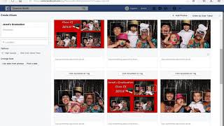 How to upload your photo booth pictures to a album on Facebook