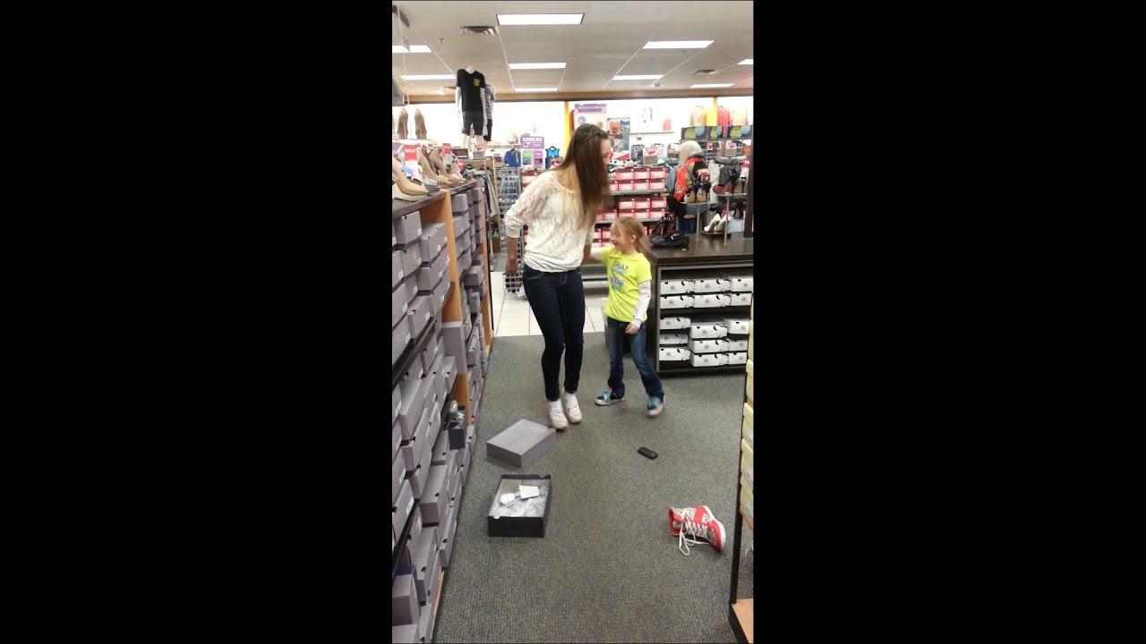 Girl trying to walk in heels - YouTube