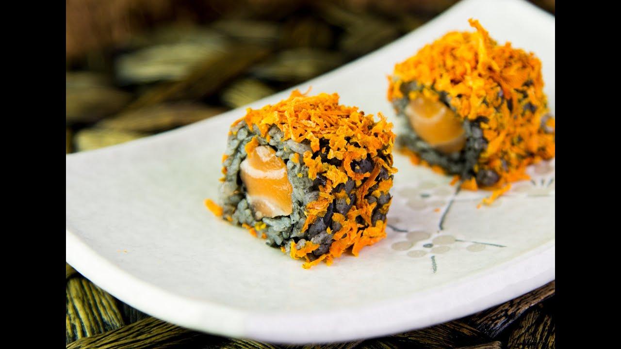 Halloween inspired sushi roll recipe youtube forumfinder Choice Image