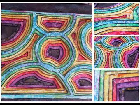Mixed Media Paper Molas From Panama  (Around The World Inspirations)