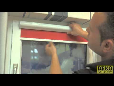 Rollo Kassette zum Kleben auf den Fensterrahmen  ohne zu Bohren   YouTube