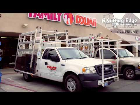 Commercial Glass Storefront Installation - Family Dollar Project