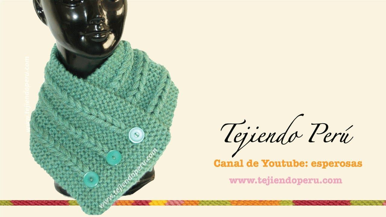 Cuello con trenzas de vainillas tejido en dos agujas - Tejiendo Perú ...