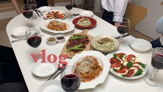 ENG) 우버거vlog| 집들이브이로그, 음식, 선물,…