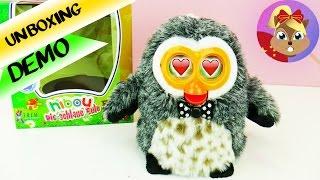 电子宠物 猫头鹰 HIBOU 可爱 说话 交流 跳舞 毛绒 玩具 娃娃 动物 会动 开箱 展示