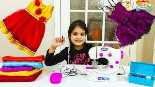 Ashu & Katie Cutie wants same kids Party Dress - Sewing Toy for Kids ! Katy Cutie Show
