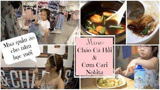 Cuối Tuần Nấu Cháo Cá Hồi & Cơm Cari Nhật ♥ Cùng Donut đi mua quần áo cho năm học mới | mattalehang