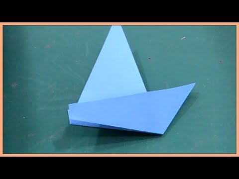 How To Make A Paper Sailboat || Origami Paper Sailboat || Paper Activity for Kids