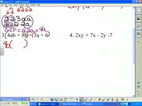 92 Factoring Using the Distributive Property