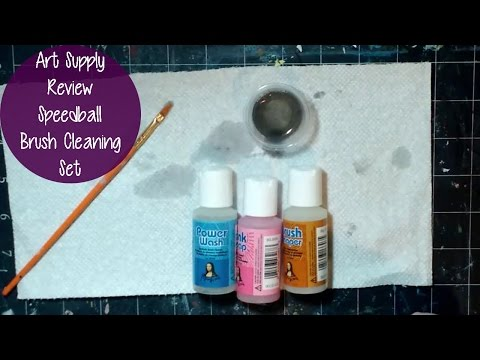 ART SUPPLY REVIEW! How to Clean your Brushes with the Mona Lisa Brush Cleaning Set by Speedball
